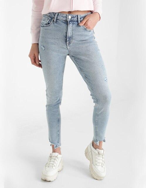 Jeans skinny GAP claro corte cintura alta para mujer en ...
